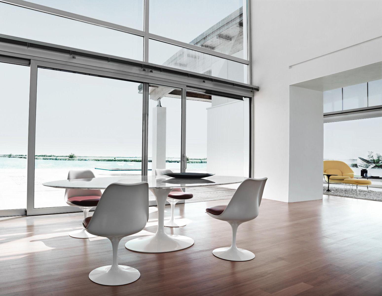 saarinen tulip tisch oval marmor arabescato. Black Bedroom Furniture Sets. Home Design Ideas