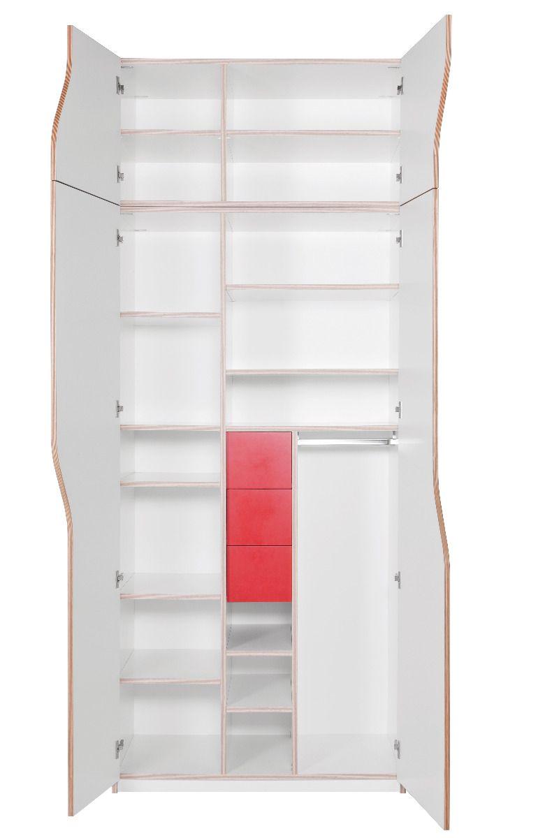 plane kleiderschrank mit aufsatz und innenschubladen. Black Bedroom Furniture Sets. Home Design Ideas